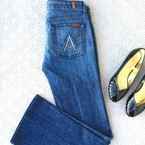 7 for all Mankind A Pocket Jeans, Size 27